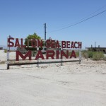 Approaching the Salton Sea Beach Marina. This is where I first smelled the sewage.