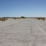 The barren roads in Salton City get errie when you try to envision all of the houses that were supposed to be built along them.